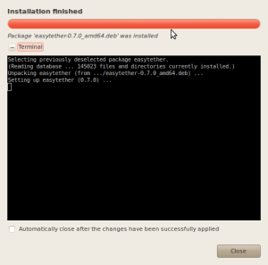 Easytether installation in Ubuntu