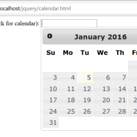 Code snippet - Date Picker with jQuery